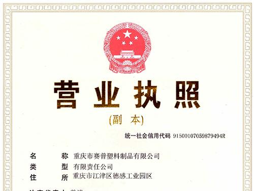重庆市赛普塑料制造有限公司-营业执照